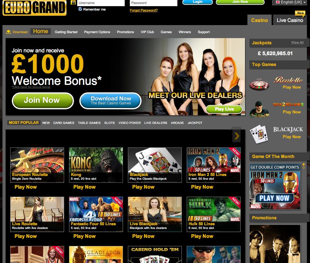 grand online casino payment methods