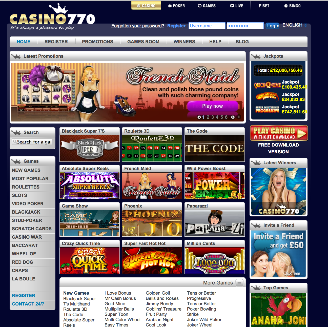 Blog bonus casino 770 gambling themed party