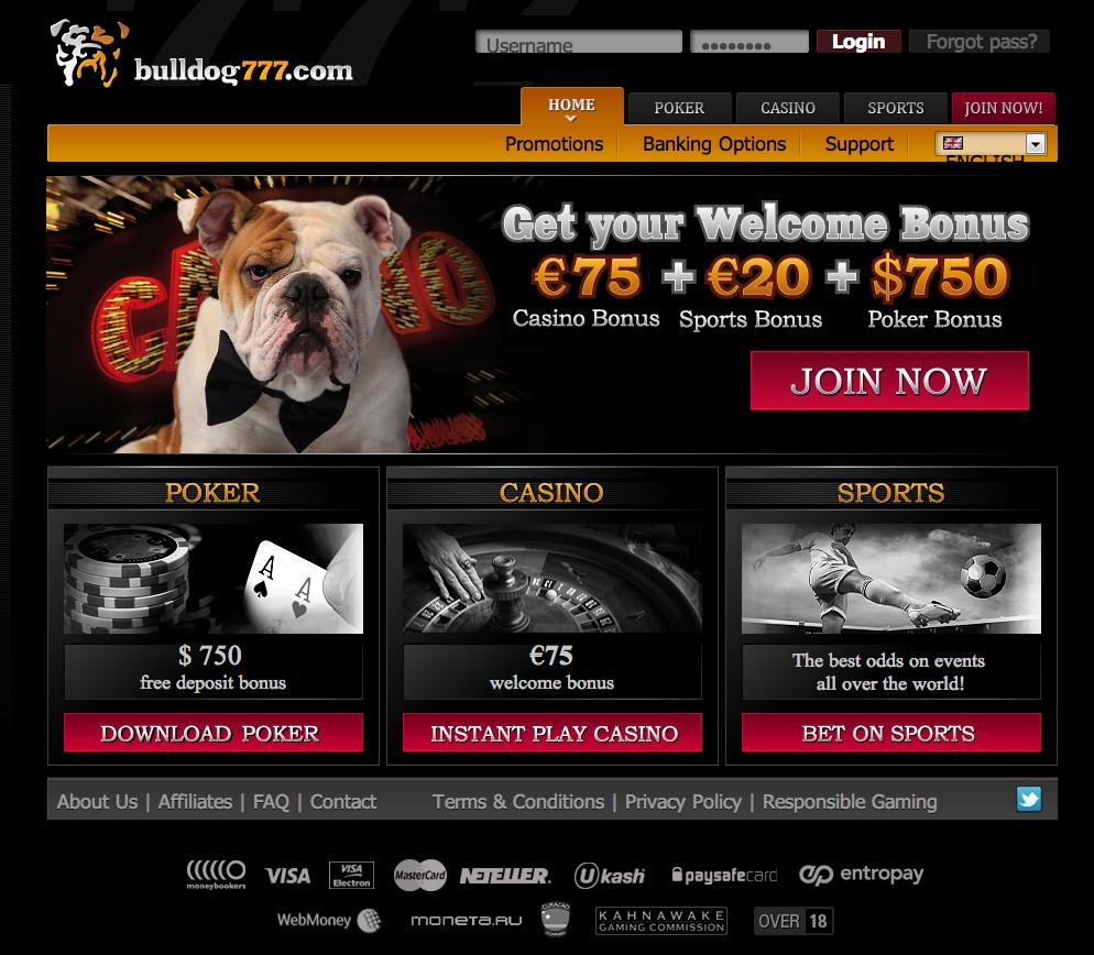 Bulldog777 poker download