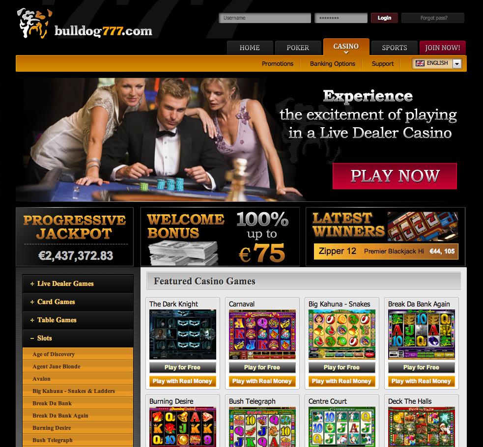 Bulldog777 casino