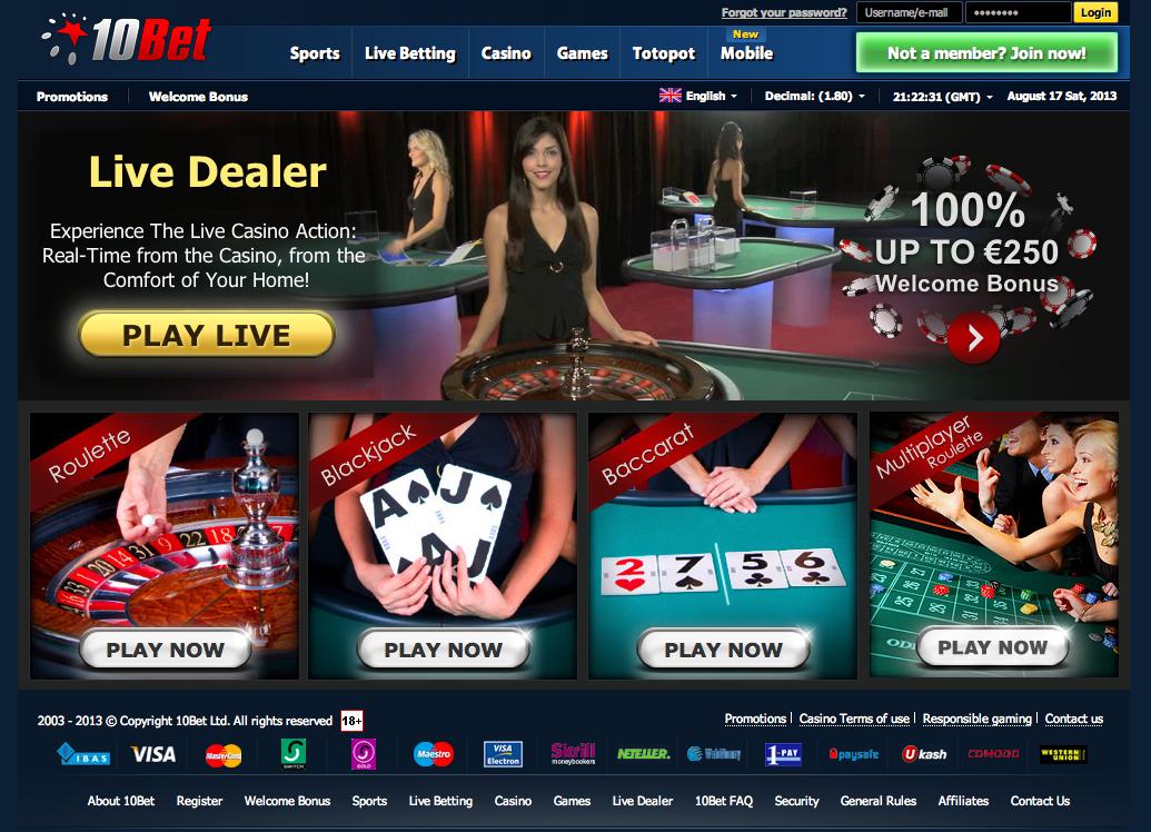 10Bet Casino No Deposit Bonus Promo Codes - Updated Review 2019