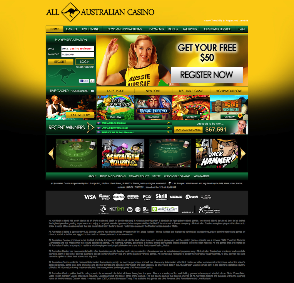 All Australian Casino Review - User Ratings and Comments